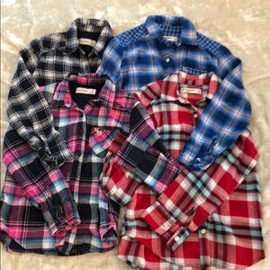 Abercrombie kids plaid shirt bundle